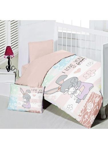 Maxstyle Pink Rabbit Bebek Nevresim Takımı Renkli